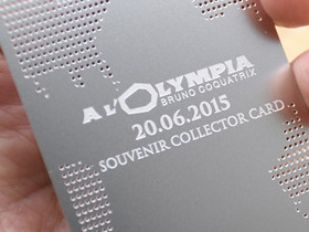 Normal Etched on standard silver card