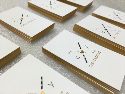 Gold Edge Paper card